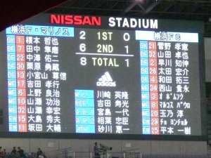 横浜FM 8-1 横浜FC