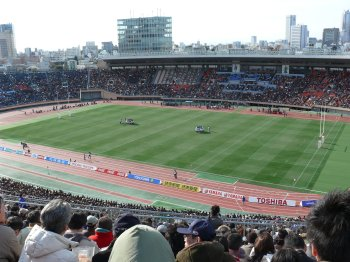 大学ラグビー決勝・早大−関東学院大