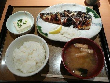 サバの塩焼定食