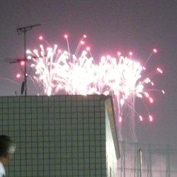 嵐コンサートの花火