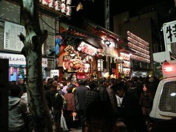 鷲神社(夜)