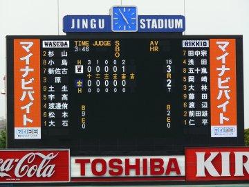 東京六大学野球・早稲田−立教
