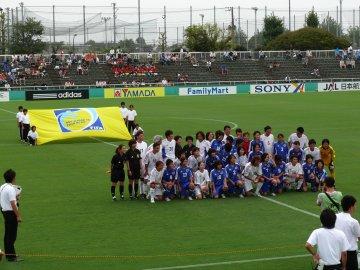 日本代表・JリーグOB&なでしこリーグOGチーム−JFAアカデミー福島女子チーム