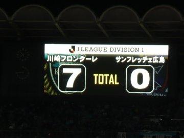 川崎フロンターレ 7-0 サンフレッチェ広島