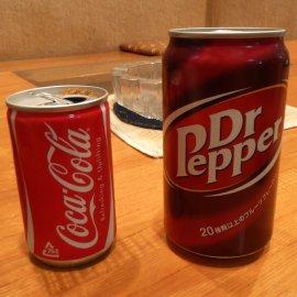 コカ・コーラと持ち込みのドクターペッパー