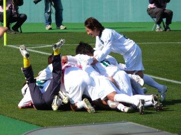 松本山雅FCがロスタイムに決勝ゴール
