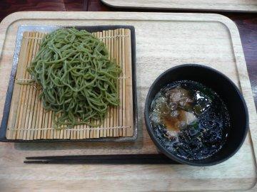 明日葉のつけ麺(そば)@700円
