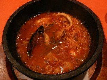 魚貝のスープ入りご飯