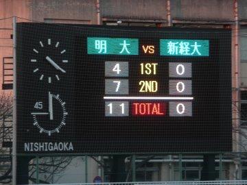 明大 11-0 新経大