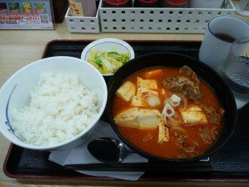 豆腐キムチチゲセット@490円