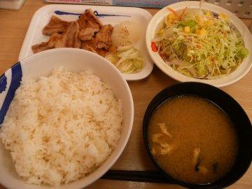 豚バラ焼肉定食@松屋