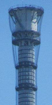 東京スカイツリー先端(634m)